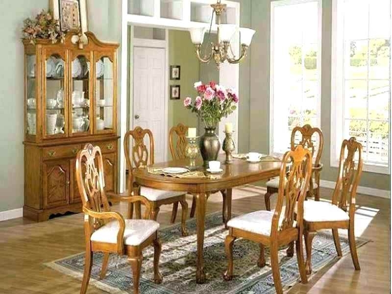 Widely Used Light Oak Upholstered Dining Room Chairs Set Sets Used Surprising R With Regard To Light Oak Dining Tables And Chairs (View 20 of 20)