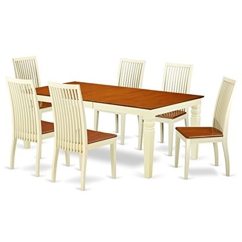 Widely Used Logan 7 Piece Dining Sets With East West Furniture Lgip7 Bmk W 7 Piece Dining Set With One Logan (View 8 of 20)