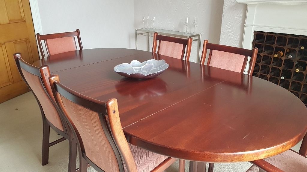 Widely Used Mahogany Extending Dining Table With Chairs (View 16 of 20)