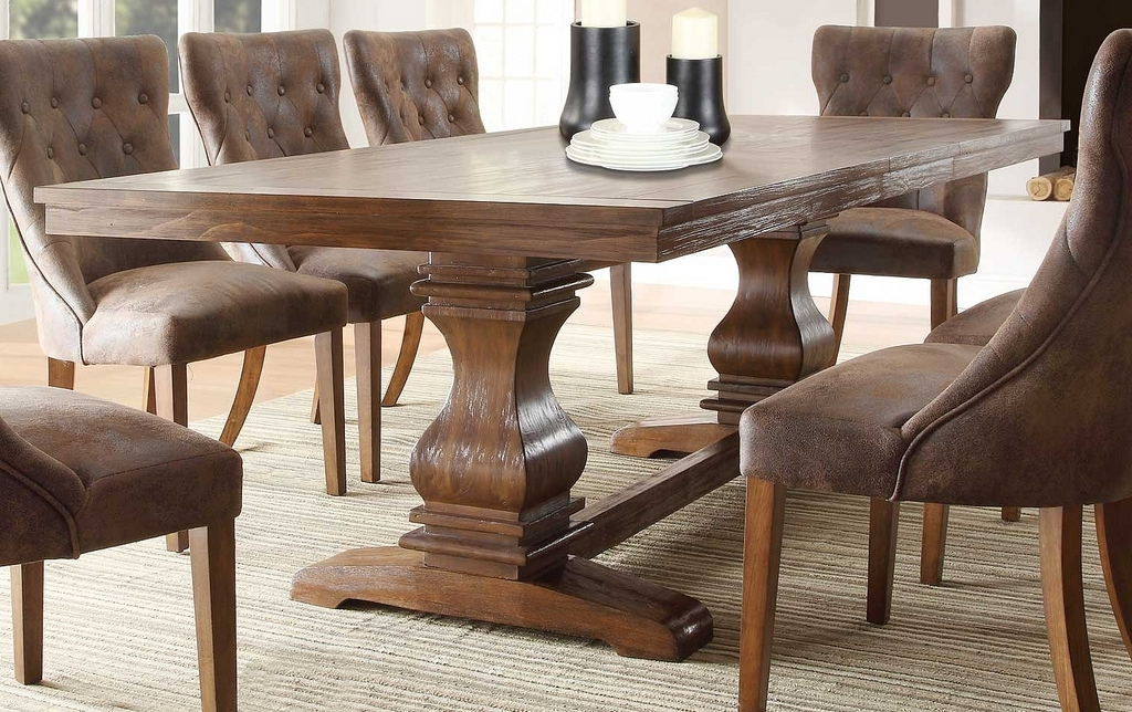 Widely Used Marie Louise Weathered Oak Dining Table With Leaf (View 20 of 20)