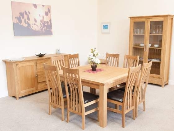 Widely Used Minsk 130Cm Large Square Oak Dining Table Seating (View 18 of 20)