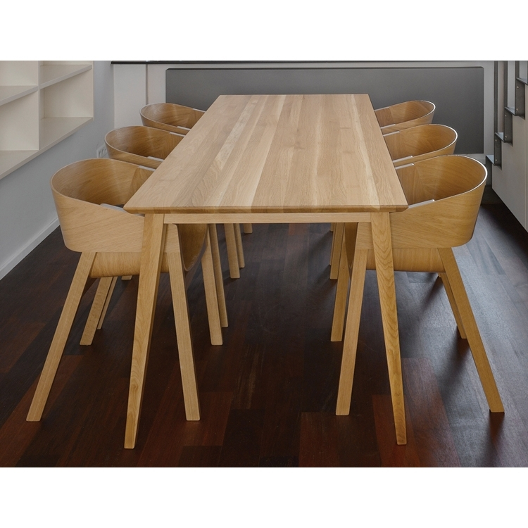 Widely Used Natural Jutland Solid Oak Dining Table 220Cm X 100Cm (View 20 of 20)