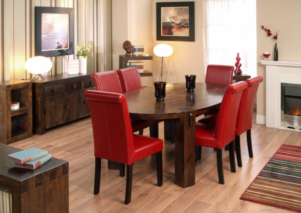 Widely Used Red Dining Table Sets Throughout Kitchen : Long Dining Table Cheap Dining Room Sets Black Table And (View 20 of 20)