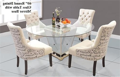 Widely Used Round Dining Table With Mirror Base Inside Mirrored Dining Tables (View 20 of 20)