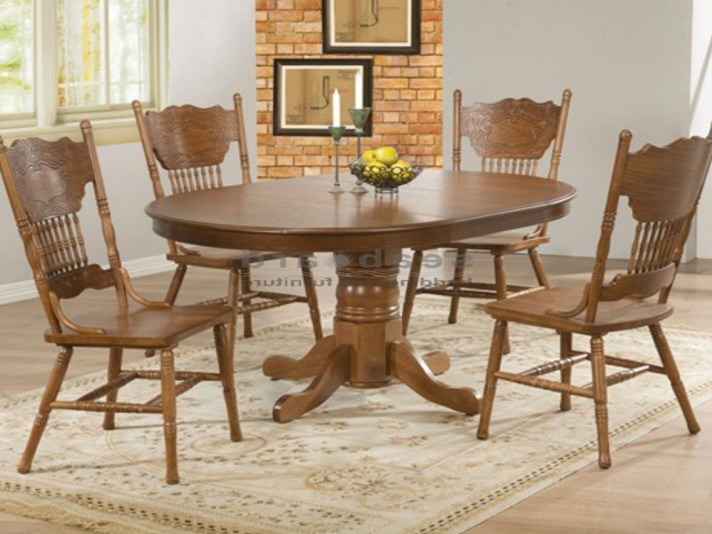 Widely Used Round Glass Dining Tables And Chairs For 4 Table Set Throughout Idea Intended For Oak And Glass Dining Tables Sets (View 18 of 20)