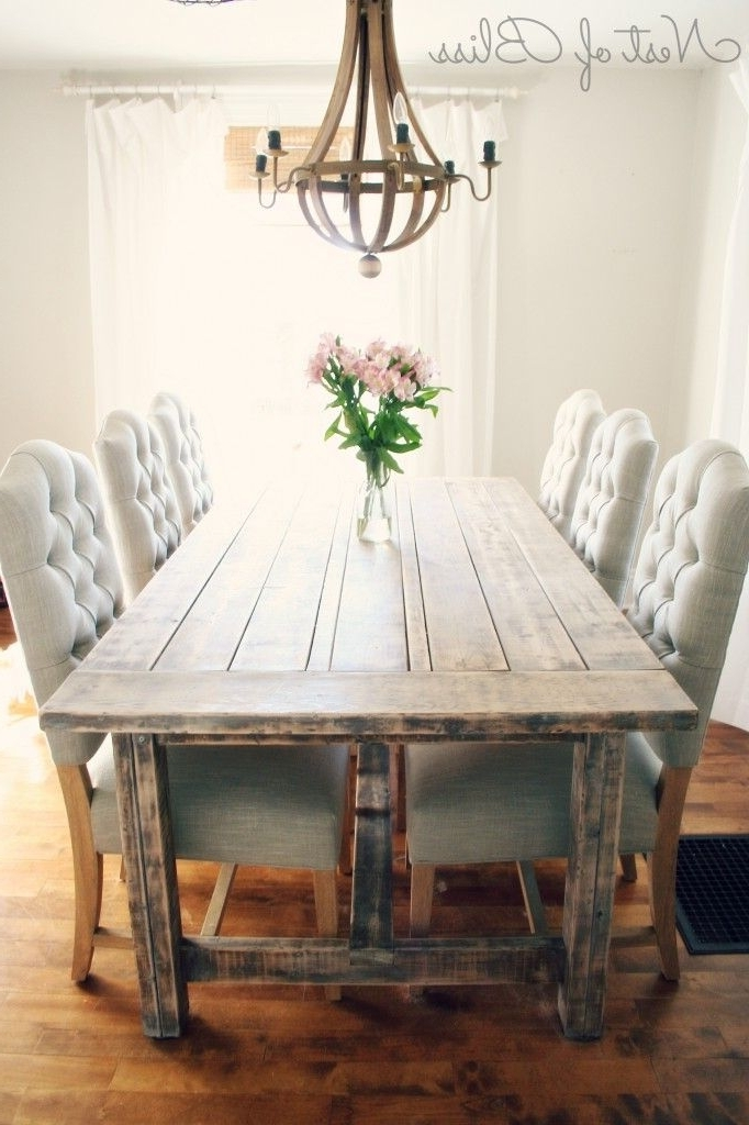 Widely Used Rustic Dining Table With Tufted Wicker Emporium Dining Chairs – Nest Inside Rustic Dining Tables (View 20 of 20)