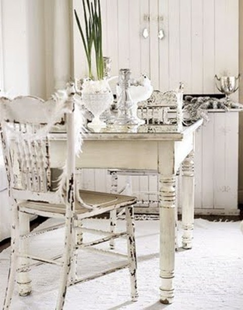 Widely Used Shabby Chic Dining Chairs Within Interior (View 11 of 20)