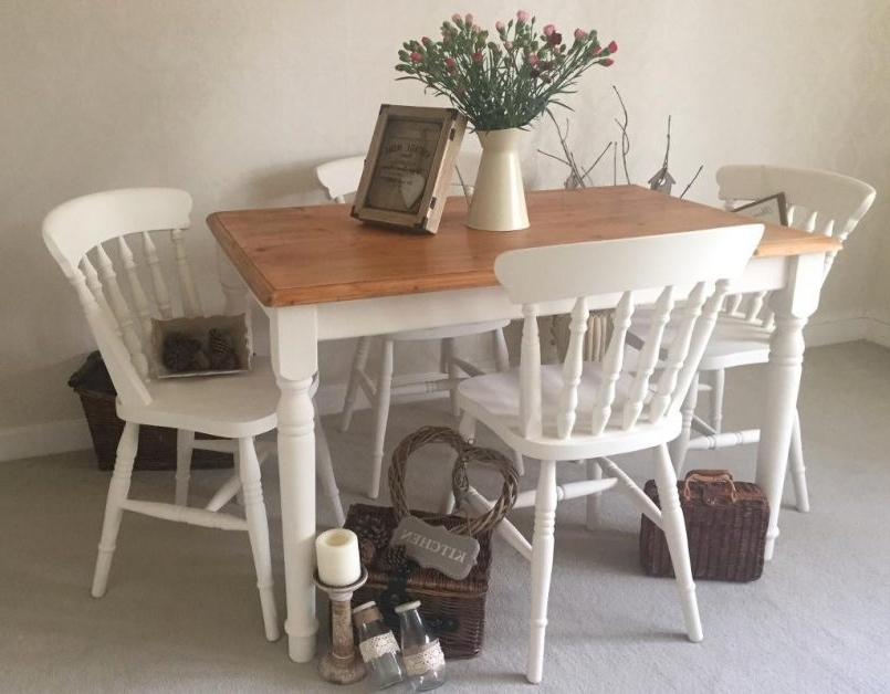 Widely Used Shabby Chic Extendable Dining Tables Regarding Dining Chair : Shabby Chic Extending Dining Table Cottage Style (View 13 of 20)