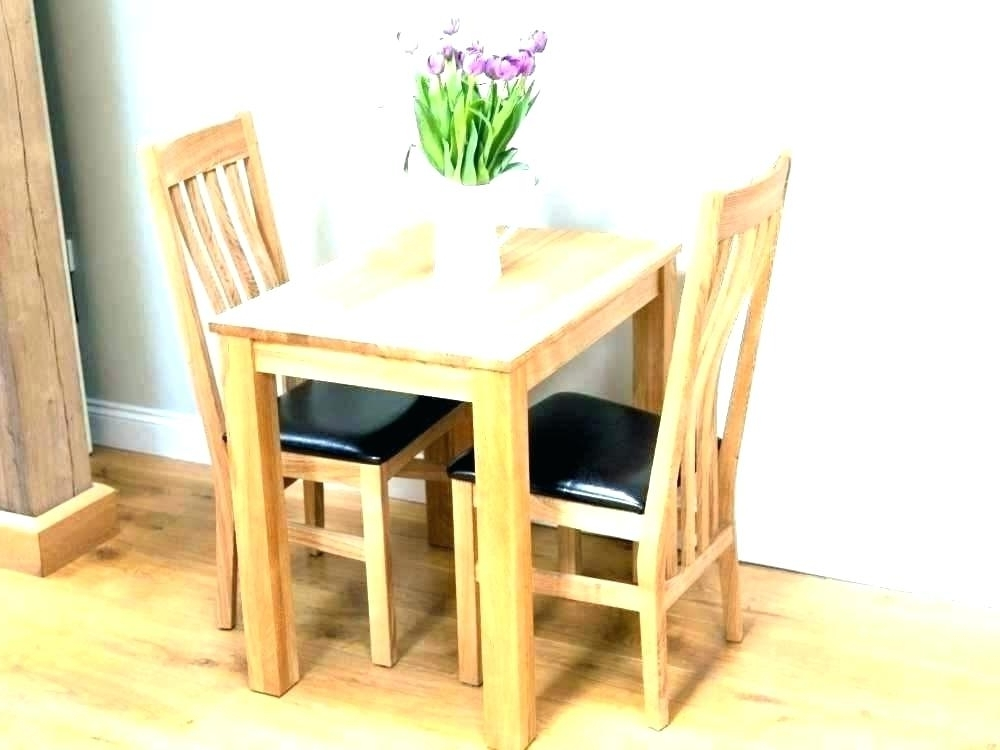 Widely Used Small Dining Tables For 2 Intended For Dining Table And 2 Chairs Breakfast Set Absolutely Smart Small (View 20 of 20)
