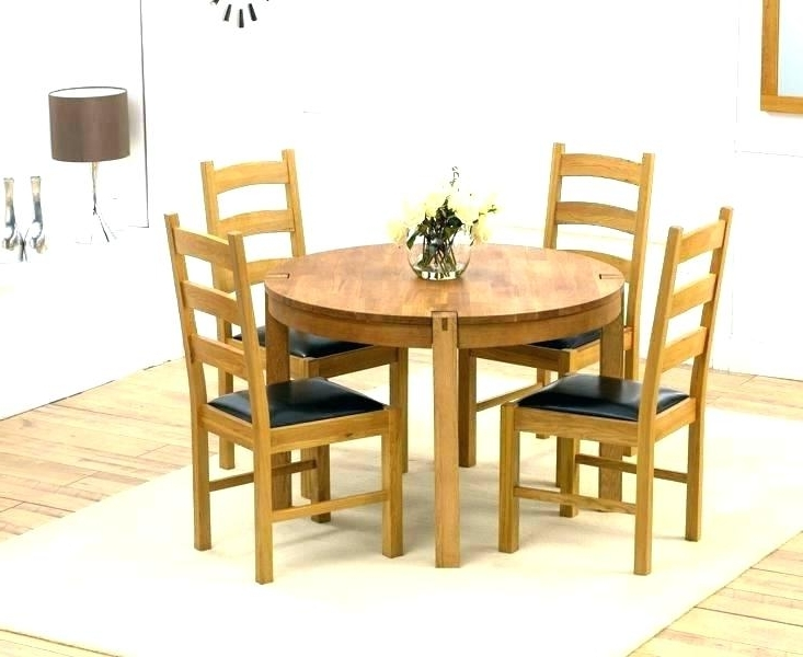 Widely Used Small Round Black Kitchen Table And Chairs Dining Tables Circle Intended For Circular Dining Tables For (View 20 of 20)