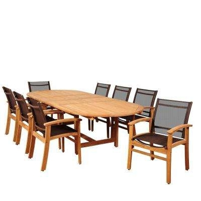 Widely Used Teak – Sling Patio Furniture – Patio Dining Furniture – Patio For Outdoor Brasilia Teak High Dining Tables (View 17 of 20)
