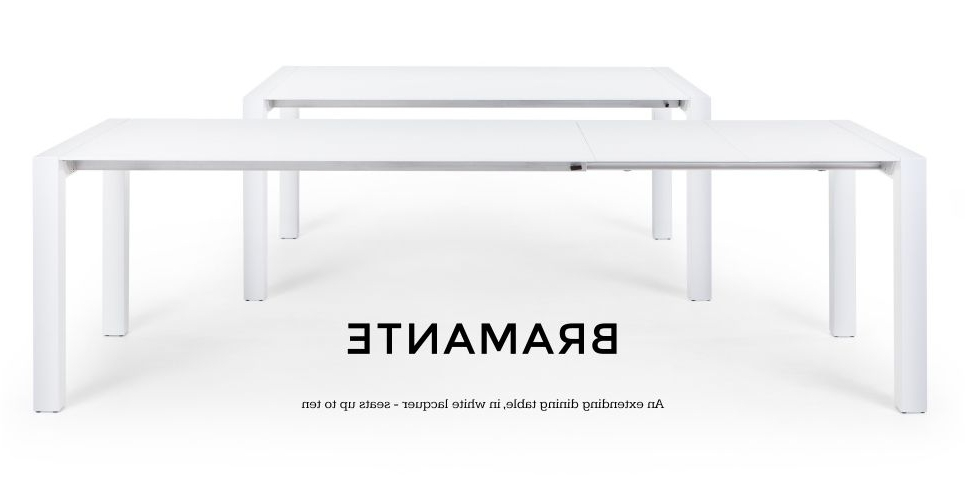 Widely Used White Extendable Dining Tables Throughout Bramante White Gloss Extending Dining Table (View 17 of 20)