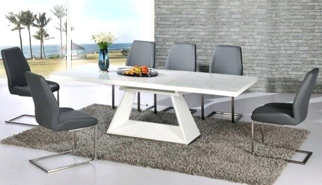 Widely Used White Gloss Dining Tables And 6 Chairs Throughout Surprising White Gloss Dining Table The Range Grey Chairs Ikea High (View 13 of 20)