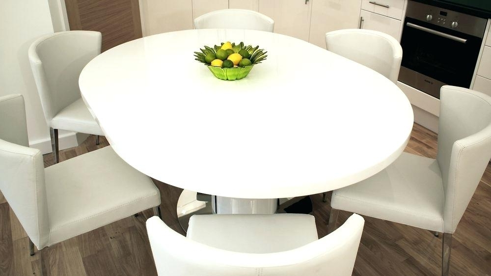 Widely Used White Gloss Round Extending Dining Tables Regarding White Round Pedestal Dining Table – Modern Computer Desk (View 12 of 20)