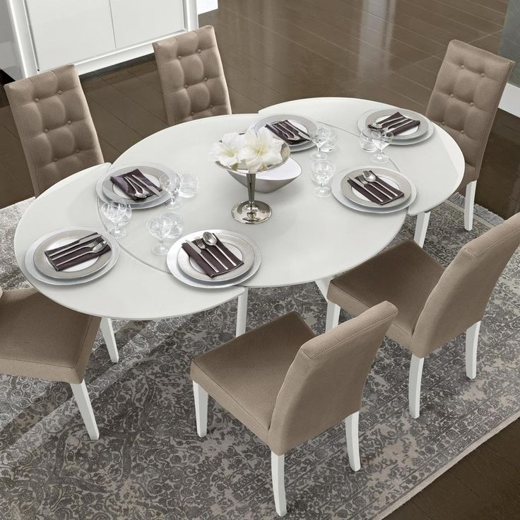 Widely Used White Gloss Round Extending Dining Tables With Black Extendable Dining Table – Netinvest (View 18 of 20)
