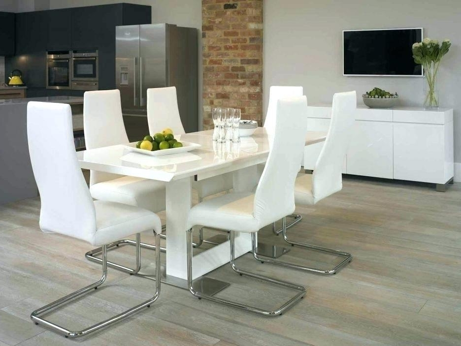 Widely Used White Leather Dining Room Chairs For Contemporary White Leather Dining Room Chairs Modern Table And Chair (View 13 of 20)