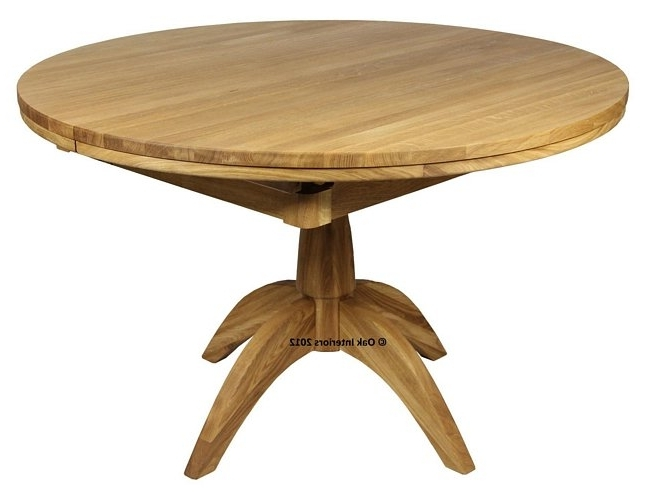 Windsor Round Extending Solid Oak Dining Table From Solidoak Dining Throughout Well Known Circular Oak Dining Tables (View 20 of 20)