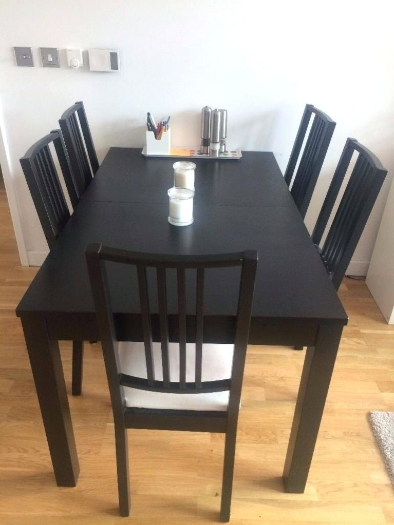 Wood Dining Tables And 6 Chairs Within Most Recent Ikea Black Kitchen Table Black Kitchen Table Small Black Kitchen (View 20 of 20)