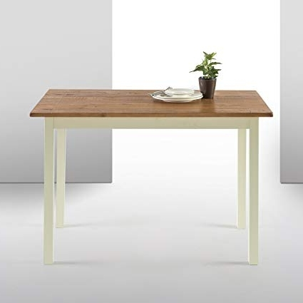 Wood Dining Tables Inside Preferred Amazon – Zinus Farmhouse Wood Dining Table / Table Only – Tables (View 11 of 20)
