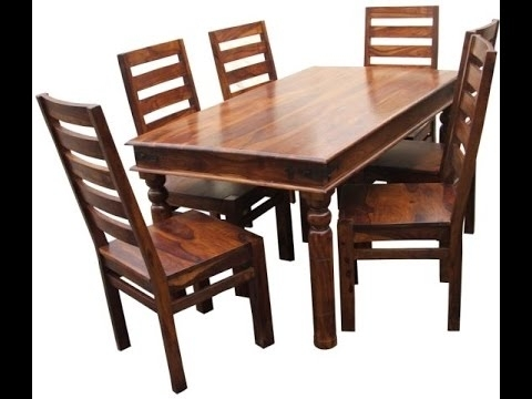 Wood Dining Tables Intended For Well Known Teak Wood Dining Tables Product Demo @ Fab Home Koramangala (View 18 of 20)