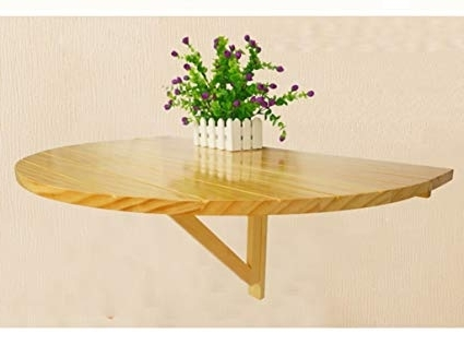 Wood Folding Dining Tables For Widely Used Amazon: Zcjb Solid Wood Folding Table Dining Table Wall Table (View 16 of 20)