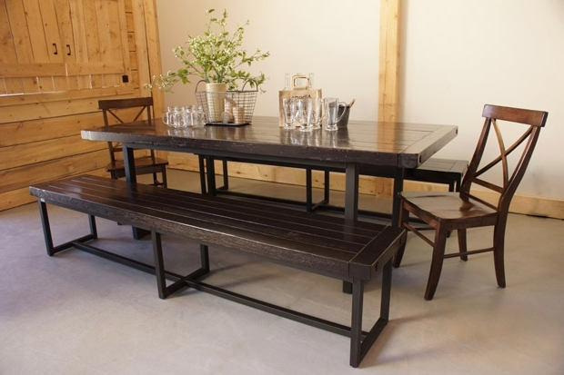 Wood & Iron Dining Table In Calgary, Alberta / Liken Woodworks In Current Iron And Wood Dining Tables (View 19 of 20)