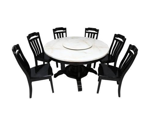 Wooden 6 Seater Round Dining Table Sets, Rs 104181 /piece, Mobel With Regard To Well Liked 6 Seater Round Dining Tables (View 20 of 20)