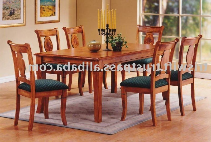 Wooden Dining Sets With Regard To Recent Wooden Dining Set (1+6),classical Wooden Chair,dining Chair,dining (View 19 of 20)