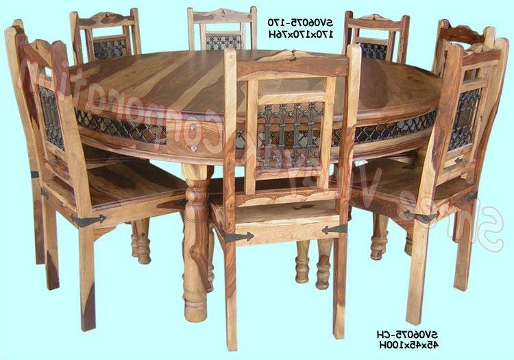 Wooden Dining Table Set,sheesham Wood Furniture – Buy Sheesham Wood With Regard To Fashionable Sheesham Wood Dining Chairs (View 20 of 20)