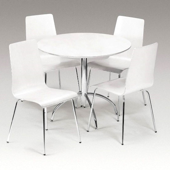 Wooden Dining Tables And 4 Chairs Furnitureinfashion Uk White Round For Well Known White Circle Dining Tables (View 20 of 20)