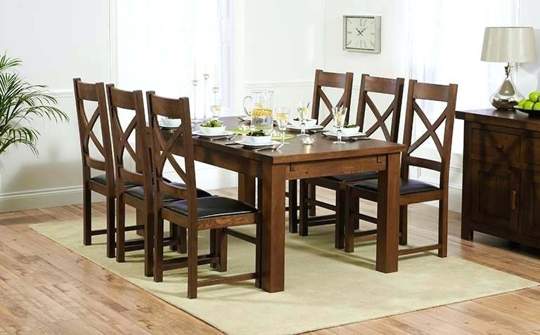 Wooden Dining Tables And Chairs Used Wooden Dining Table And Chairs Regarding Most Up To Date Solid Dark Wood Dining Tables (View 9 of 20)