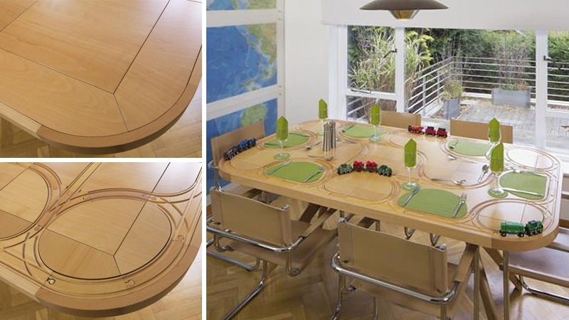 Wooden Train Dining Table Redefines Playing With Your Food (View 20 of 20)
