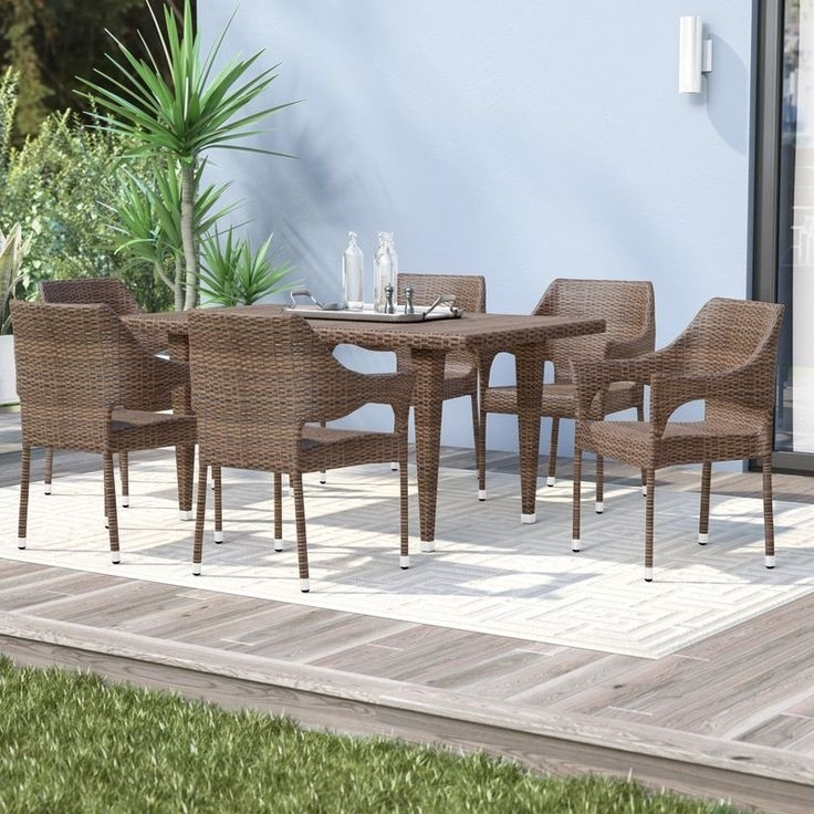 Wyatt 7 Piece Dining Sets With Celler Teal Chairs With Regard To Widely Used 11 Best Nw // Patio Images On Pinterest (View 20 of 20)