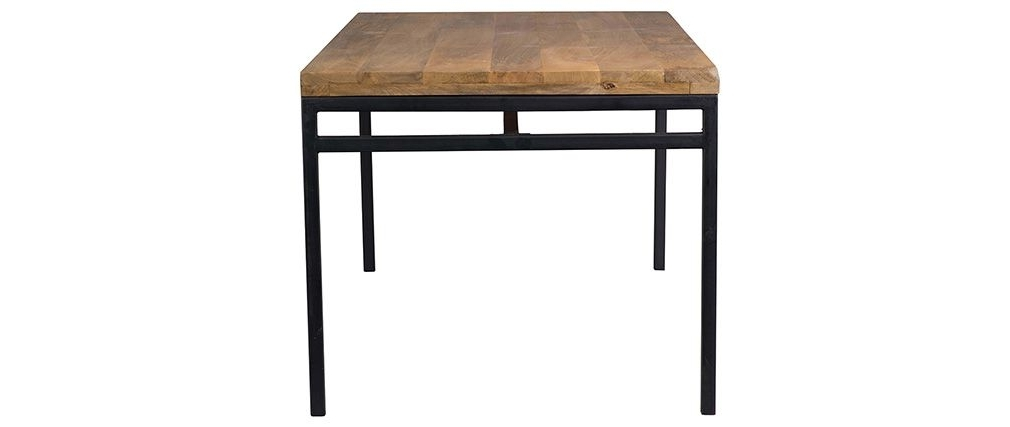 Ypster 160X90Cm Industrial Dining Table In Mango Wood And Metal For Preferred Mango Wood/iron Dining Tables (Gallery 19 of 20)