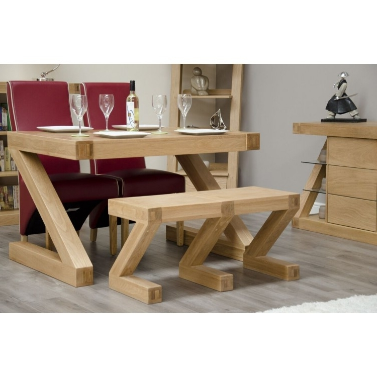Z Oak Furniture Dining Table Small Bench At Oak Furniture House Within Fashionable Small Oak Dining Tables (Gallery 5 of 20)