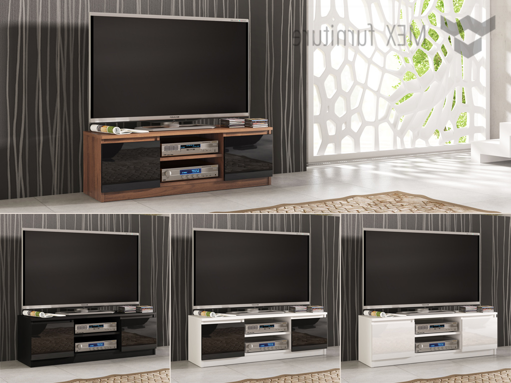 100Cm Width Tv Units Pertaining To Trendy High Gloss Tv Cabinets, Unit – Mex Furniture (View 5 of 20)