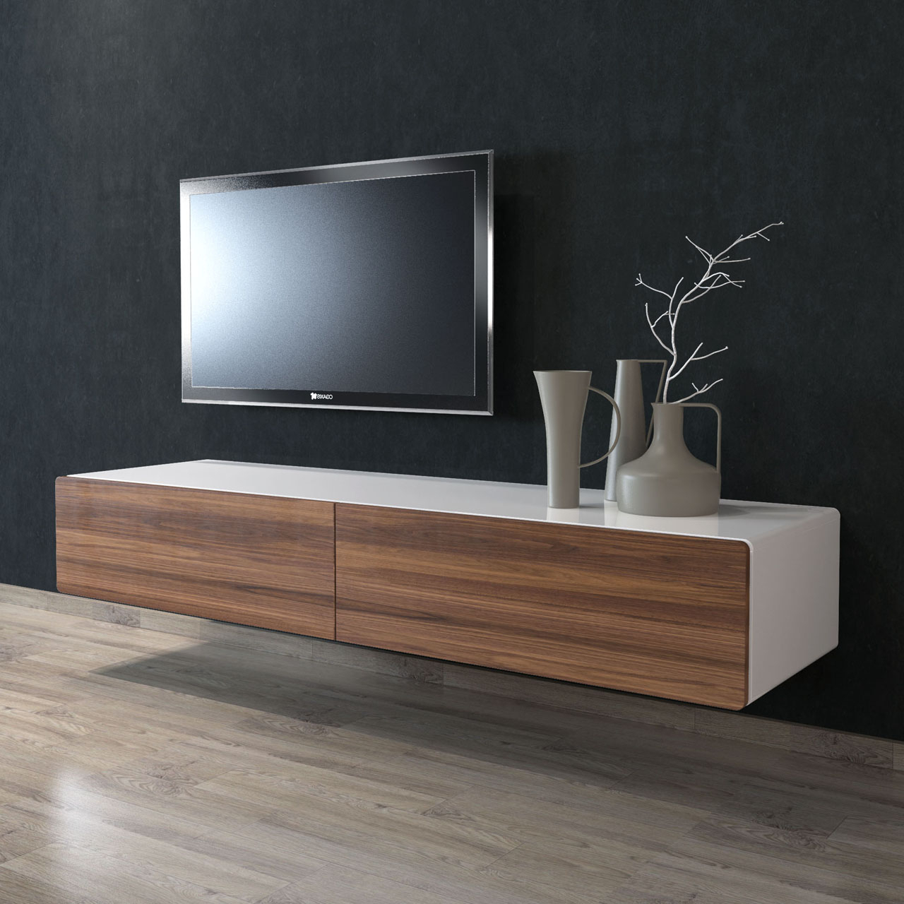 166cm Floating Tv Unit – Gainsville For Most Recently Released Floating Tv Cabinets (View 5 of 20)