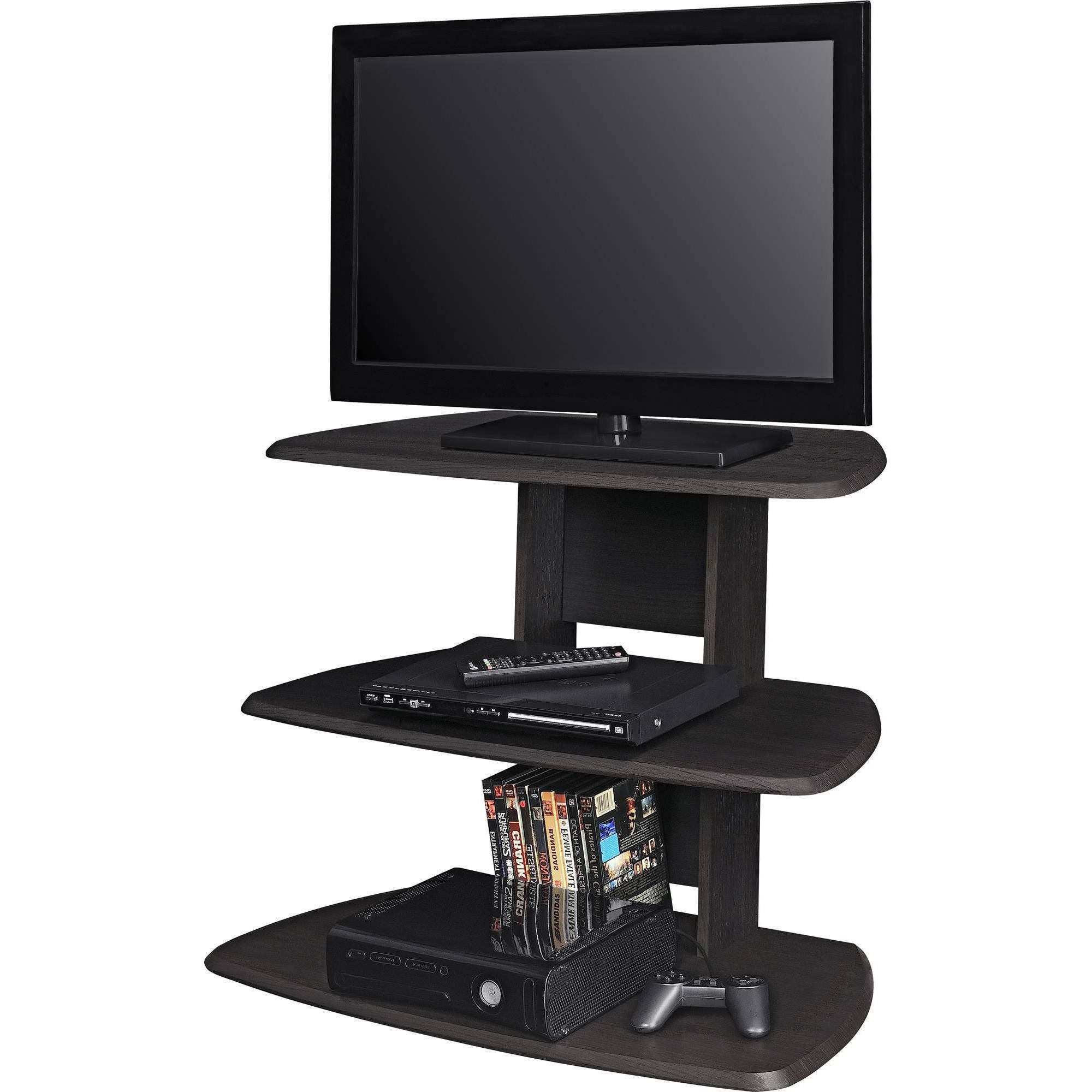 "2017 32 Inch Tv Stands Intended For Ameriwood Home Galaxy Ii Tv Stand For Tvs Up To 32"" Wide, Espresso (View 1 of 20)"