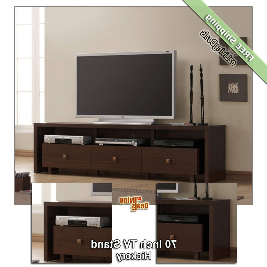 2017 70Quot Tv Stand Entertainment Media Console Table Stands For Black Intended For Annabelle Black 70 Inch Tv Stands (View 1 of 20)