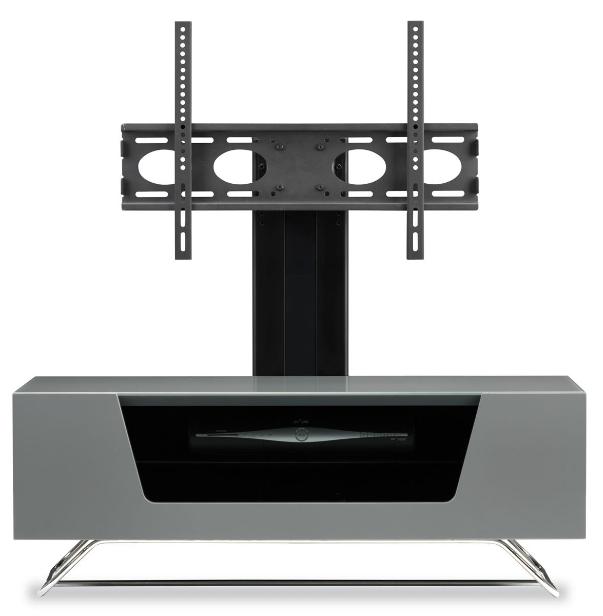 2017 Alphason Chromium Grey Cantilever Tv Stand Throughout Cantilever Tv Stands (Gallery 4 of 20)