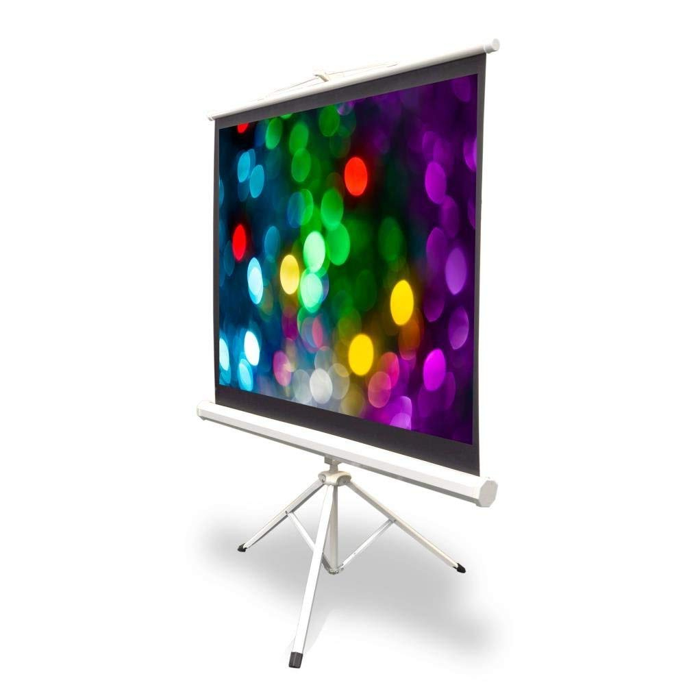 2017 Amazon: Portable Projector Screen Tripod Stand – Mobile Throughout Lauderdale 74 Inch Tv Stands (View 1 of 20)