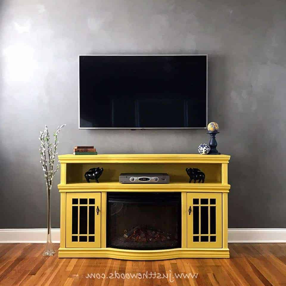 2017 Budget Friendly Diy Tv Standsjust The Woods Throughout Painted Tv Stands (Gallery 14 of 20)