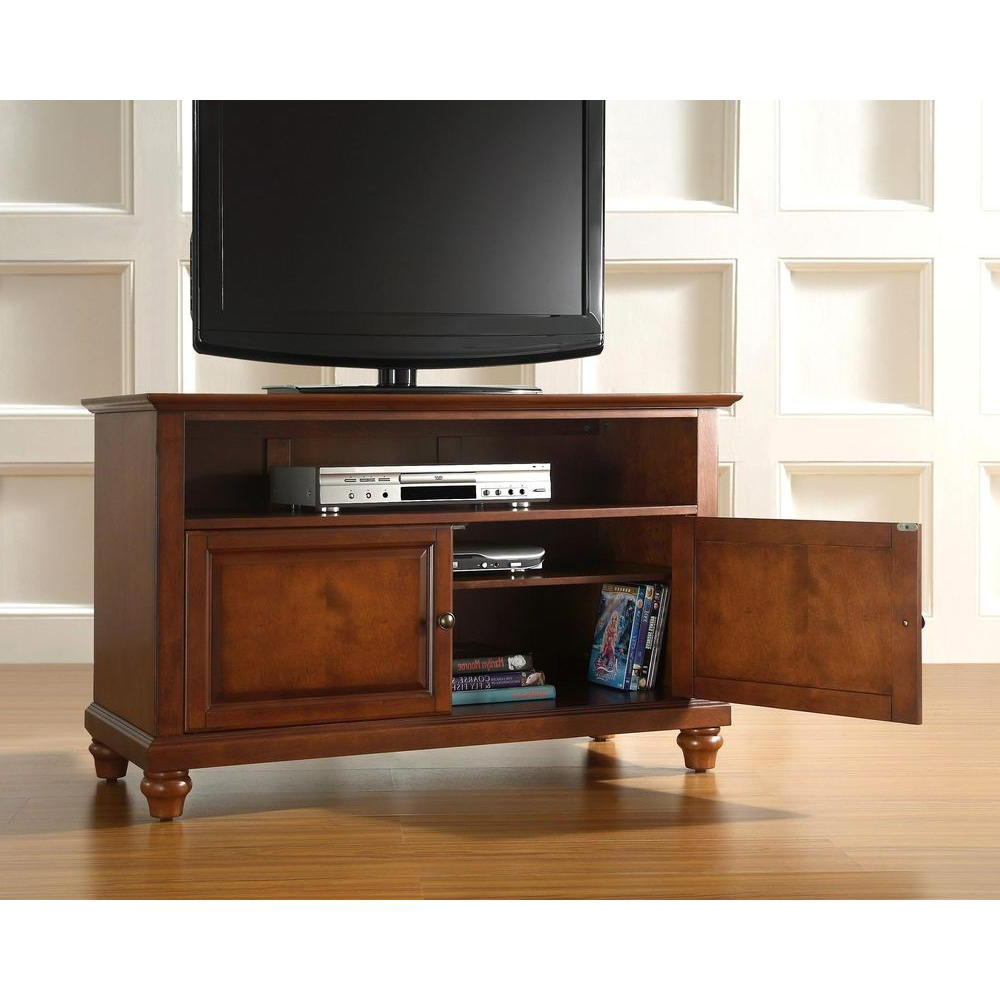 2017 Cherry Tv Stands In Cherry – Tv Stands – Living Room Furniture – The Home Depot (Gallery 2 of 20)