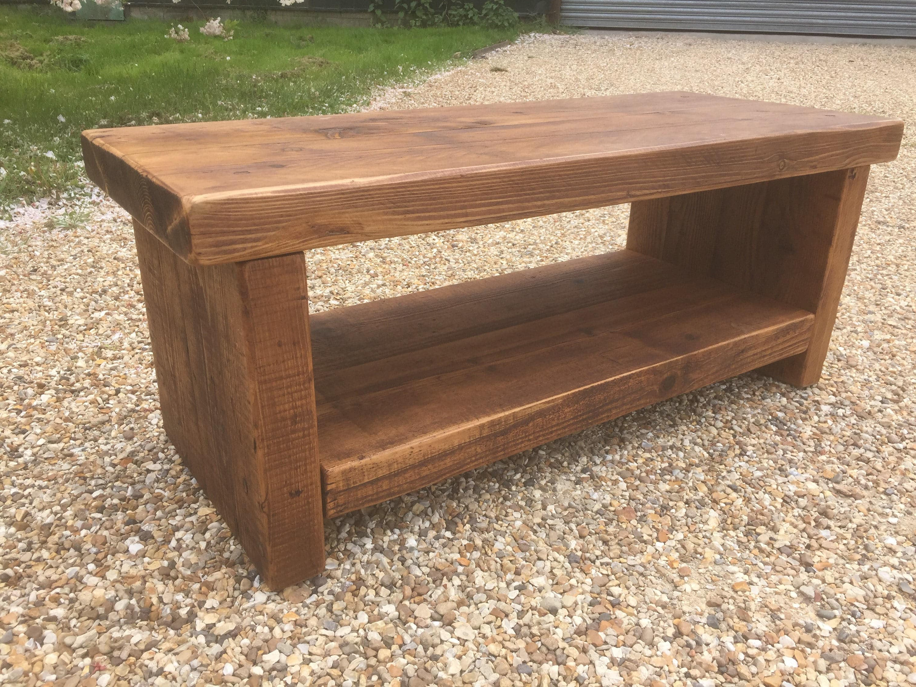 2017 Coffee Tables And Tv Stands In Reclaimed Bespoke Rustic Solid Pine Tv Stand Or Coffee Table With (View 16 of 20)