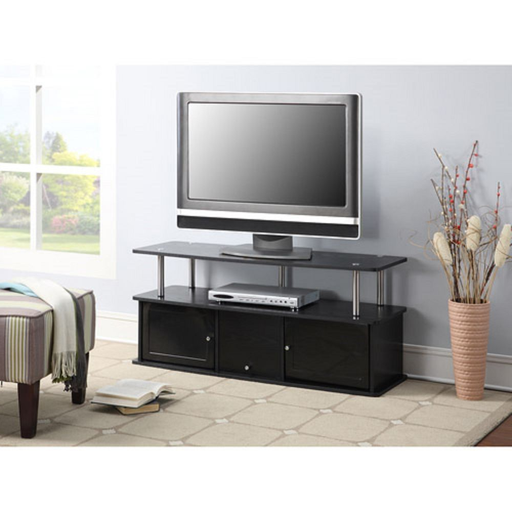 2017 Contemporary Tv Cabinets For Flat Screens Intended For Contemporary Tv Stand Console Entertainment Media Center Storage (View 13 of 20)