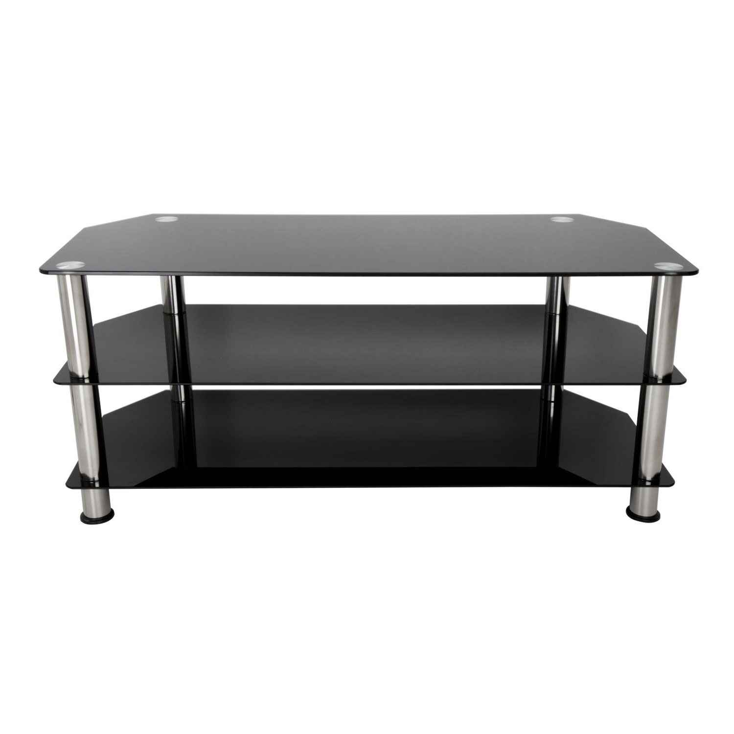 2017 Crown Tv Stand Pertaining To Black Glass Tv Stands (View 1 of 20)