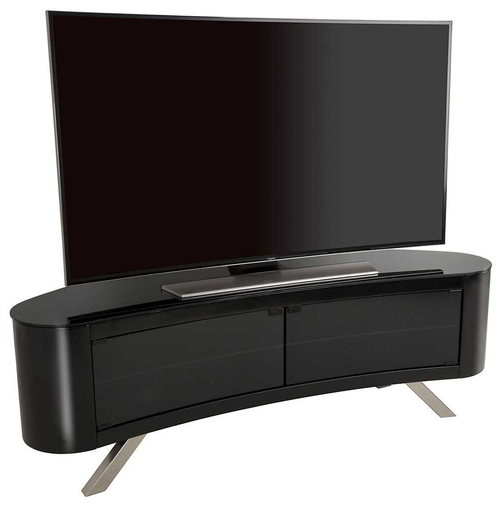 2017 Curve Tv Stands Within Avf Bay Curved Tv Stand In Black (View 1 of 20)