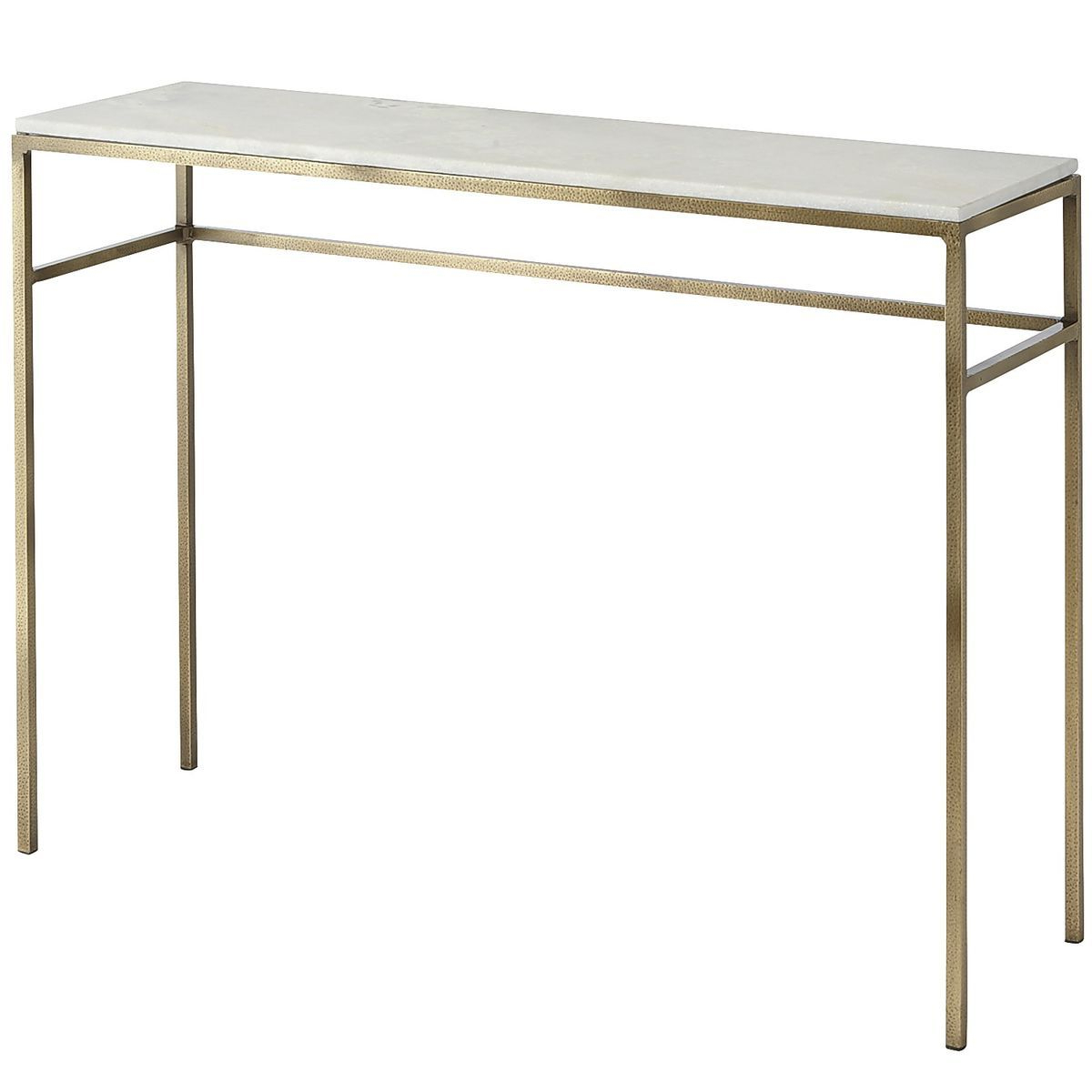 2017 Elke Marble Console Tables With Polished Aluminum Base Throughout If You're Looking For A Way To Elevate Your Living Space, Ethel (View 1 of 20)