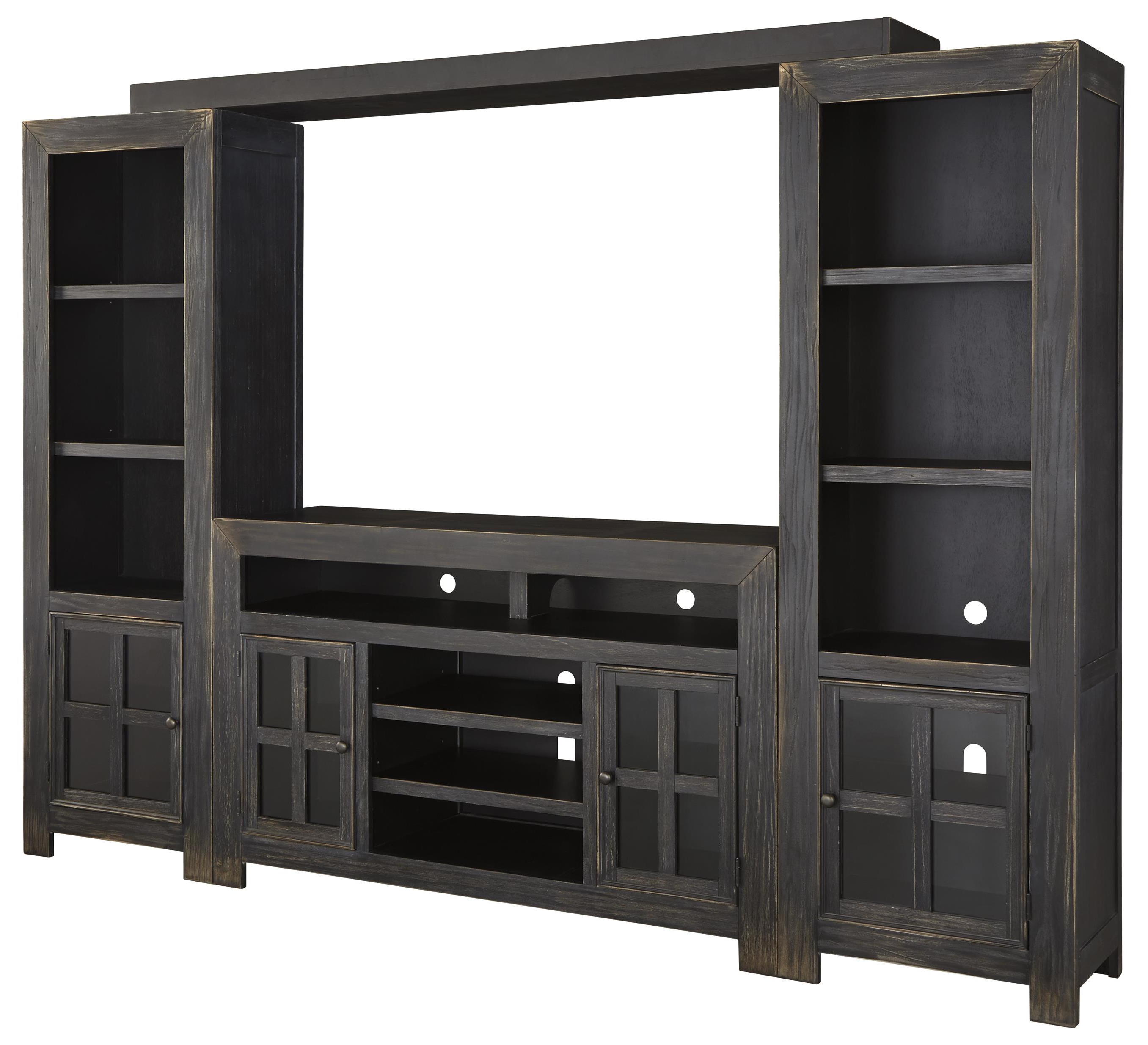 2017 Entertainment Center Tv Stands Pertaining To Ashley Signature Design Gavelston Entertainment Wall Unit W/ Large (Gallery 7 of 20)