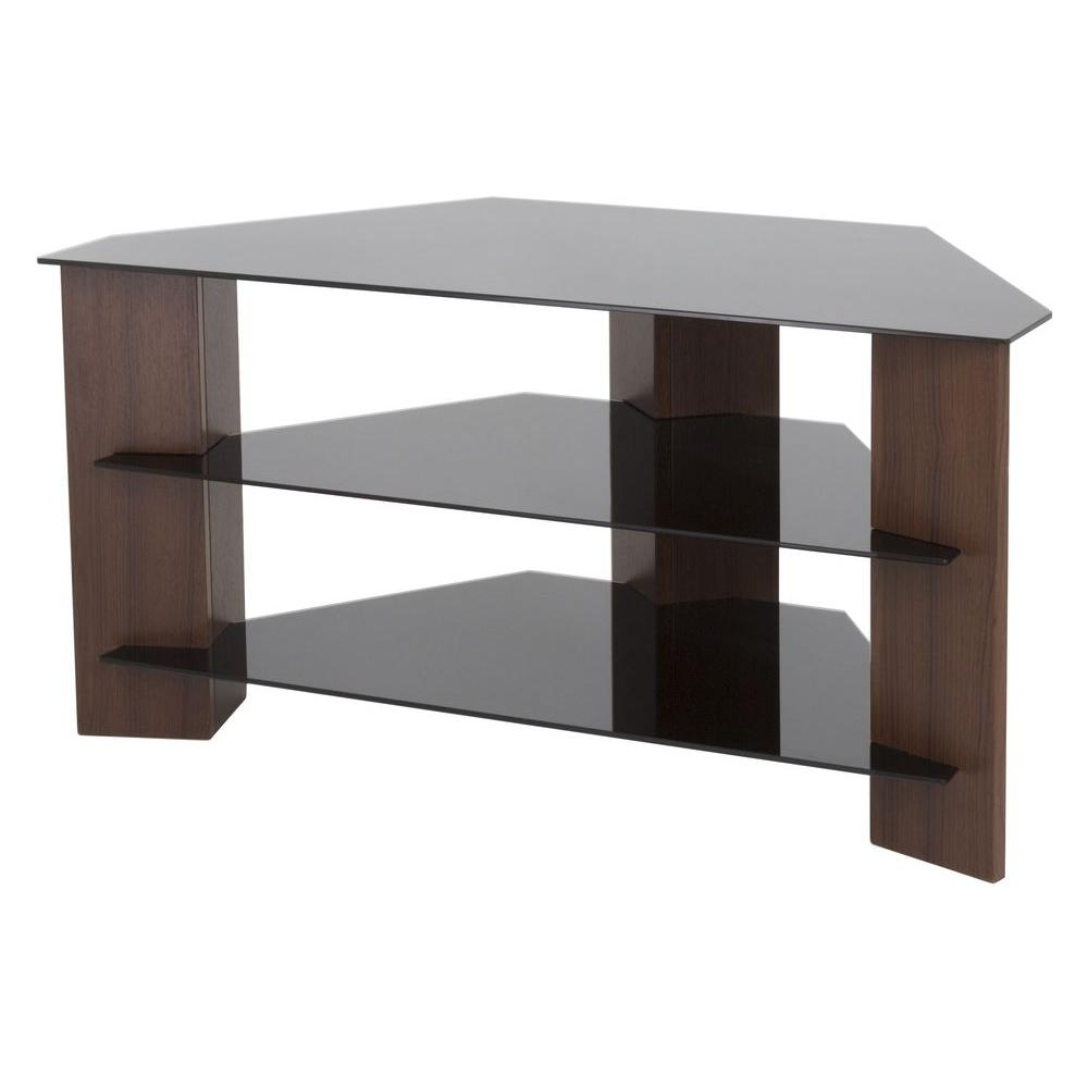 2017 Glass – Tv Stands – Living Room Furniture – The Home Depot For Maddy 70 Inch Tv Stands (View 1 of 20)